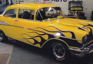 57 Chevy - Window Tint - Before